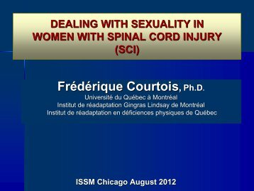 show presentation - World Meeting on Sexual Medicine 2012
