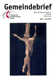 Gemeindebrief April - Juni 2012 - EmK