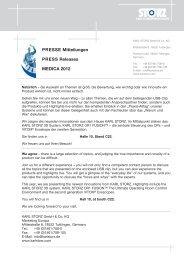 PRESSE Mitteilungen PRESS Releases MEDICA 2012 - Storz