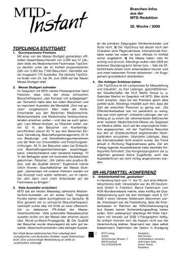 topclinica stuttgart - MTD-Verlag GmbH