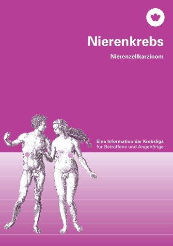 Nierenkrebs – Eine Information der Krebsliga - Krebsliga Schweiz
