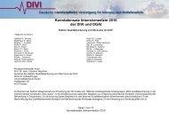 Kerndatensatz Intensivmedizin DIVI 2010
