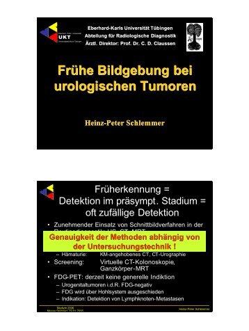 Frühe Bildgebung bei urologischen Tumoren