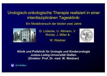 Urologisch-onkologische Therapie realisiert in einer interdisziplinären