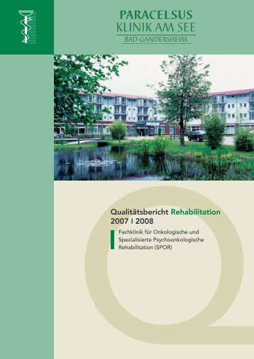 Qualitätsbericht Paracelsus-Klinik am See Bad Gandersheim