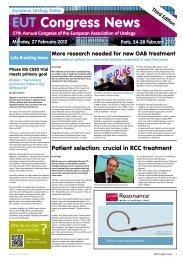 EUT Congress News - EAU Annual Congress