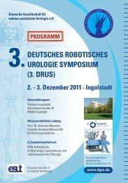 3. Deutsches Robotisches Urologie Symposium (DRUS) - Klinikum ...