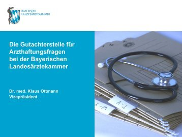 Vortrag Dr. med. Klaus Ottmann - Landesgesundheitsrat Bayern