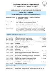 Programm Aufbaukurs Urogynäkologie 31. August und 1 ... - AGUB