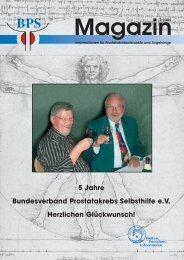 5 Jahre Bundesverband Prostatakrebs Selbsthilfe e.V. Herzlichen ...