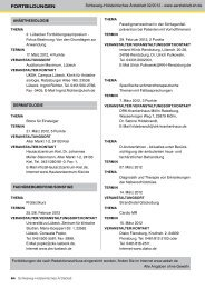 Fortbildungen - Schleswig-Holsteinisches Ärzteblatt