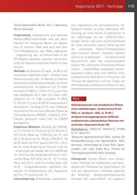 Hier können Sie sich das Abstractbuch zum ... - Hypertonie 2011