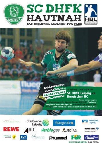 13.10.2012 SC DHfK Leipzig gegen Bergischer HC