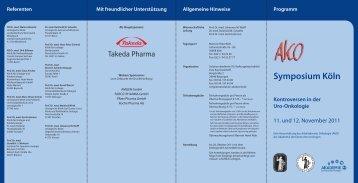 Symposium Köln Kontroversen in der Uro-Onkologie
