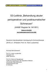 S3-Leitlinie 'Behandlung akuter perioperativer und ... - Arztbibliothek