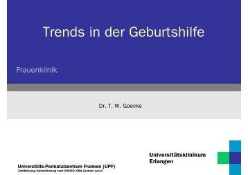 Trends in der Geburtsmedizin - Frauenklinik