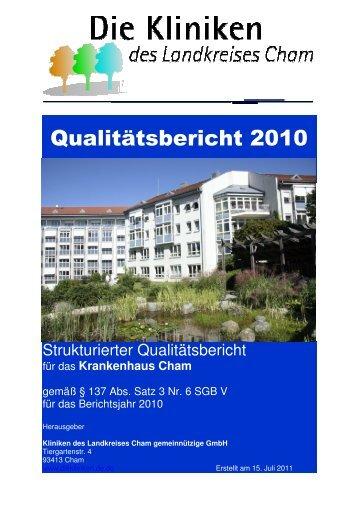 Qualitätsbericht 2010 - Kliniken des Landkreises Cham