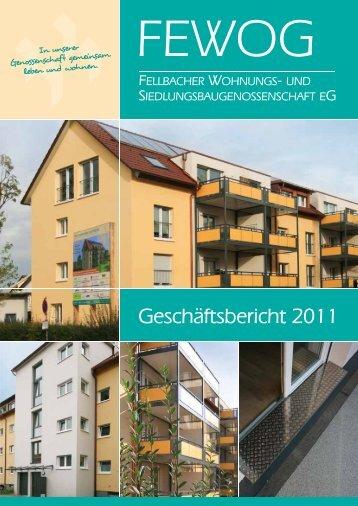 Geschäftsbericht 2011 - FEWOG Fellbach