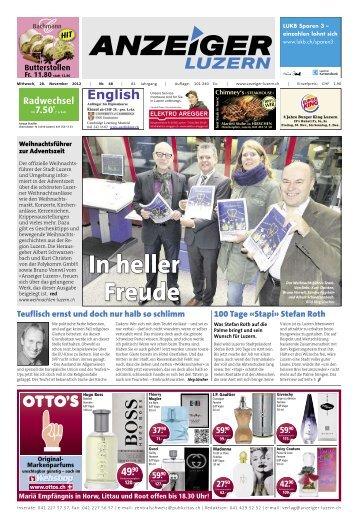 Anzeiger Luzern, Ausgabe 48, 28. November 2012