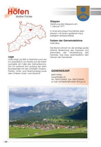 Geschichte und Zahlen - Naturparkgemeinde Höfen