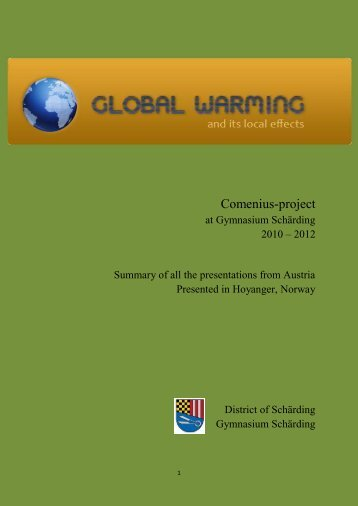 The Brochure - GLOBAL WARMING and local effects
