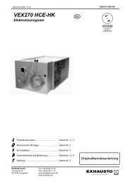 VEX270 HCE-HK Elektroheizregister - exhausto.de