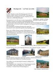 Benzingerode - von Natur aus schön - - Stadt Wernigerode