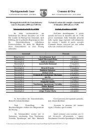 Marktgemeinde Auer Comune di Ora - Brennercom