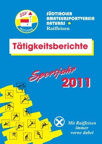 Tätigkeitsbericht Sportjahr 2011 - SSV Naturns