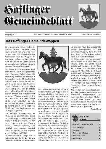 Nr. 4 - 2004 (Ausgabe - Oktober, November, Dezember)