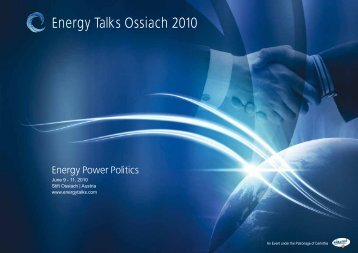 Energy Talks Ossiach 2010 - CATERVA
