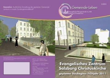 Evangelisches Zentrum Salzburg Christuskirche geplanter Baubeginn