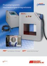 Produktprogramm Hochleistungsentmagnetisierer - Maurer ...