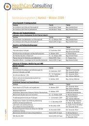 Seminarprogramm | Herbst – Winter 2009