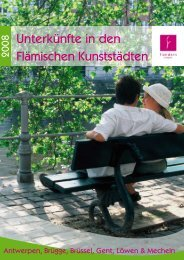 Unterkünfte in den Flämischen Kunststädten - Tourismus Flandern ...