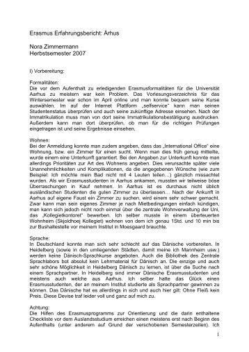 Erasmus in Århus: Erfahrungsbericht