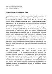 DIE WELT DEMENZKRANKER. (Dr. Jan Wojnar, Hamburg) 1 ... - Bela