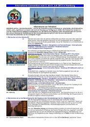 International Convention vom 5. bis 9. Juli 2013 in Hamburg