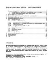 Interne Regelungen / SGB XII + SGB II (Stand 04/10)