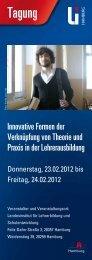 Innovative Formen der Verknüpfung von Theorie und Praxis