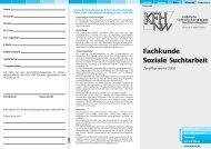 Fachkunde Soziale Suchtarbeit... - addiction.de