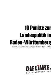 10 Punkte zur Landespolitik in Baden-Württemberg - DIE LINKE. LV ...