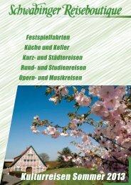 Katalog 2013 - Schwabinger Reiseboutique