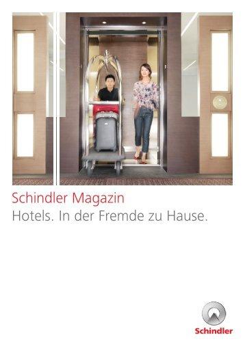 Schindler Magazin Hotels - Schindler Group