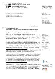 Fachhochschule Köln Cologne University of Applied Sciences ...