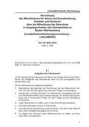 Landesheimmitwirkungsverordnung Baden-Württemberg ...