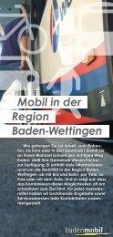Mobil in der Region Baden-Wettingen - Badenmobil