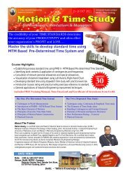 motion and time study - mitec - Universiti Kuala Lumpur