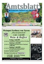 5. Juli 2009 Wein - Durbach