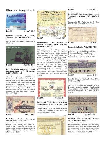 Historische Wertpapiere 2: - Papierania
